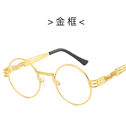 Sonnenbrillen Männer und Frauen Persönlichkeit Mode Runde Punk Sonnenbrille Frühlingsbeine Brille Street Shoots Wild Metal Sunglasses-4