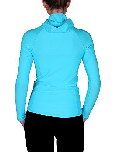iQ-UV - 669122 - iQ UV 300, vêtement anti-UV - T-shirt manches longues à capuche - Femme Turquoise