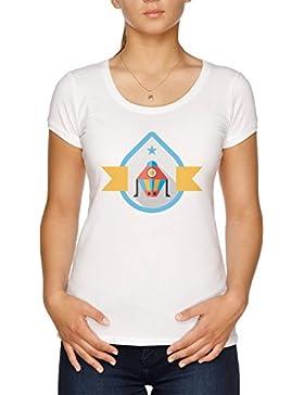Vendax Satélite Camiseta Mujer Blanco