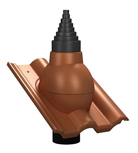 Antennendurchgangsziegel Braas Frankfurter Pfanne + 5 verschiedene Farben + (Schwarz)