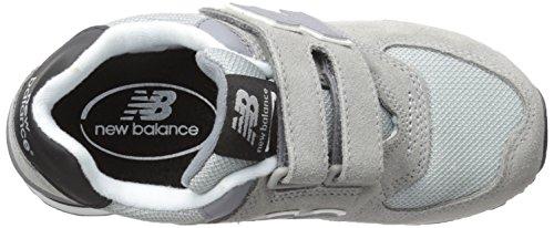 New Balance 574, Scarpe da Ginnastica Alte Unisex – Bambini Grigio (Grey/Black 061)