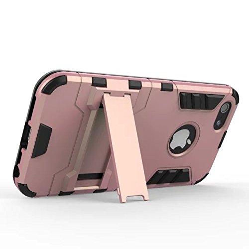iPhone 6 Cas,6S Cas,Lantier Dual Layer armure protectrice Case Hybird [Slim Fit] [Léger] avancée Shock Protection des Absorption avec béquille Feature pour iPhone 6 & 6S 4,7 pouces gris Red