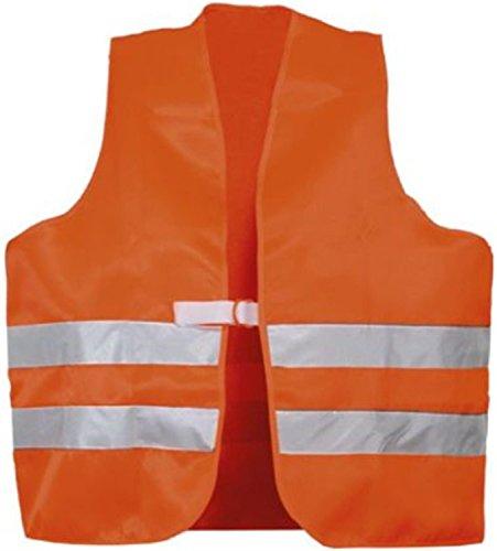 Sicherheits-warnweste (Warnweste nach EN 471 - Polyester in Gelb oder Orange Farbe Orange)