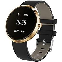 Dax-Hub M5S Bluetooth 4,0 Smart, IP66, impermeabile, con rilevatore Calorie monitoraggio sanitario-Contapassi; polsino, con cardiofrequenzimetro, telefonata & con messaggio