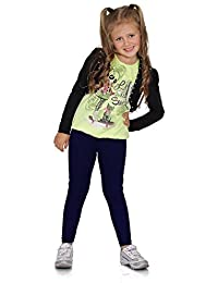 Para Niños Niños Niñas Liso integral suaves leggings edad 2 3 4 5 6 7 8 9 10 11