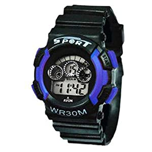 Gee Aar Impex Sports Watch Collections Digital Black-Grey Dial Kids Watch - GEEBLESVNLGT01048