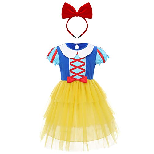 Schneewittchen Kostüm Baby Mädchen Prinzessin Kleid Märchen Cosplay Karneval Fasching Halloween Kostüm 2-3 Jahre