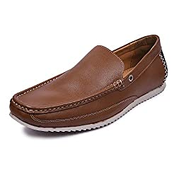 Andrew Scott Mens Tan Leather Loafers - AD-04Tan_10