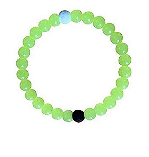 Kleine Baumwolle-feld (Neue Armband Tür Chance Silikon Farbe Neongelb, phosphoreszierend, Größe M 18cm kleines Handgelenk Damen und Kinder)