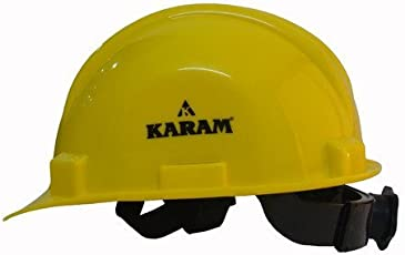 Karam PN521 Safety Helmet with Nape and Ratchet, Yellow
