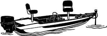 Bass boat fenetre en vinyle autocollant autocollant voiture camion remorque signes mur 03 - 60cm Largeur - Hauteur 24cm - noir vinyle