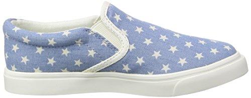 Hummel Slip-on Star Jr, Mocassins mixte enfant Bleu - Blau (Blue 7002)