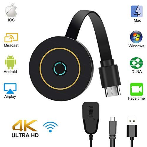 Wireless Wifi Display , Gifort Drahtlos Mini Anzeigeempfänger teilen 4K 1080P Videos Audio/ Bild/ Live Kamera/ Musik vom PC/ Telefon auf TV Monitor Oder Projektor