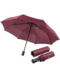 boy ® Regenschirm Taschenschirm Automatischer Auf-Zu-Automatik mit 8 Edelstahl-Rippen - windtest bei 140 km/h, Transportabel Regenschirm für Frauen und Männer
