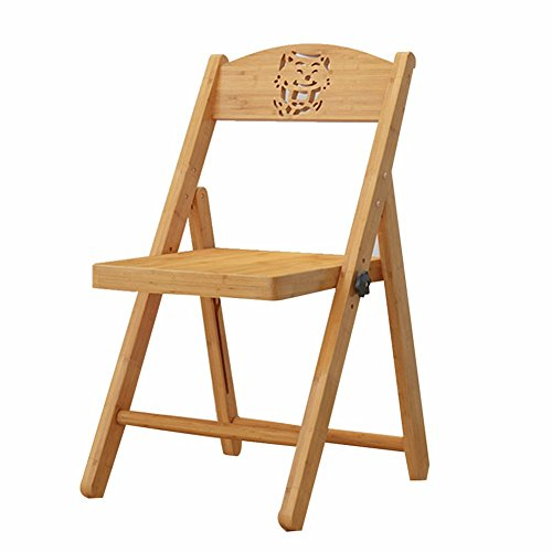 ZGYQGOO Stühle Bamboo Household Multifunction Chair Lift Klappstuhl Carbonization, Holzfarbe, 2 Stile Dual-Use (Größe: Large-40x43x79cm)