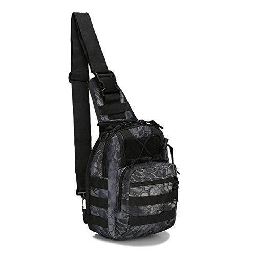 LF&F backpack Militärfans Tarnung kleine Brusttasche Reitschultertasche taktische Brusttasche Outdoor Bergsteigen tragbare Tasche Campingrucksack Wanderrucksack Männer und Frauen A