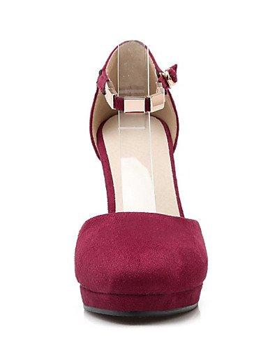 WSS 2016 Chaussures Femme-Mariage / Habillé / Décontracté / Soirée & Evénement-Noir / Rouge / Gris-Talon Aiguille-Talons-Talons-Laine synthétique red-us5 / eu35 / uk3 / cn34