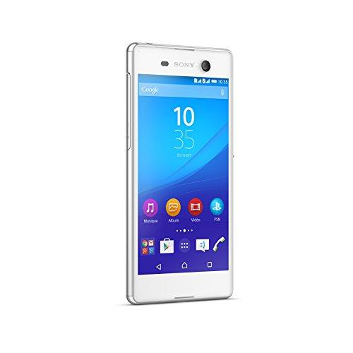 Sony E5633/S50/1301-9557 Xperia M5 Smartphone (16GB, Festnetz 4G, Display 12,7 cm (5 Zoll) Full HD) weiß