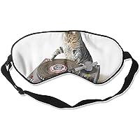 Music Lover Cat 99% Eyeshade Blinders Sleeping Eye Patch Eye Mask Blindfold For Travel Insomnia Meditation preisvergleich bei billige-tabletten.eu