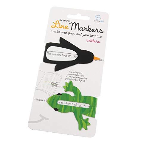 Line Markers Critters - Magnetische Lesezeichen: 2er Set Motiv Tierchen
