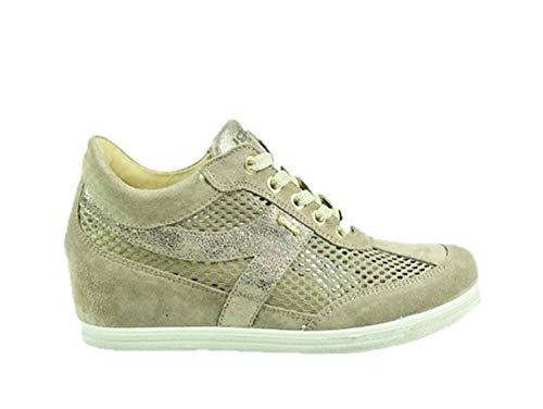 IGI&CO 3164922 Sneakers Zeppa Donna con Rialzo Interno Beige Pelle