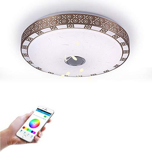 ZCHUXYE Deckenleuchte 72W Bluetooth Musikleuchte Smart LED Bluetooth Schlafzimmer Wohnzimmer Deckenleuchte Bluetooth Audio Licht -