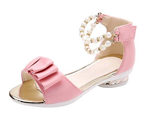 Brinny Neue Blumen Mädchen Sandalen Bowknot Perle Peep-Toes Prinzessin Baby Schuhe Hochzeit Geburtstag Abend Party, Pink- 30 (Koreanische Cosplay Kostüme)