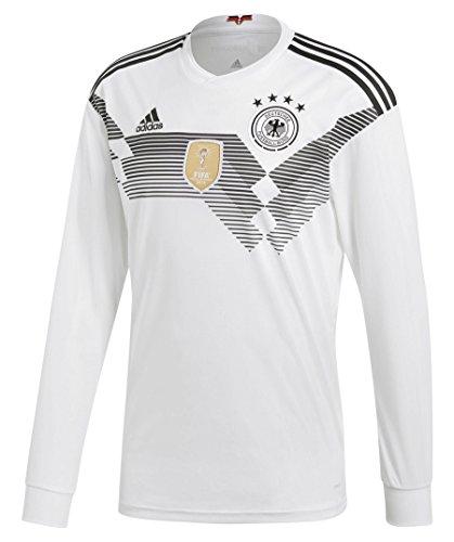adidas Herren Dfb Heim Replica Langarm-Trikot, White/Black, M (Replica Fußball Adidas Trikot Herren)