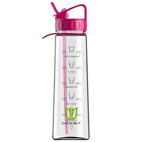 water-bottle-degbitr-900-ml-32oz-bpa-free-sports-water-bottle-with-straw-time-markings-non-leak-eco-