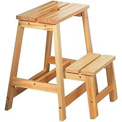 Kesper 67520 - Escalera (madera de pino certificada por el FSC, 43 x 39 x 49 cm)