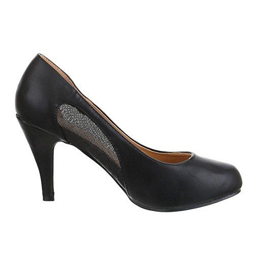 Damen Schuhe, DM1057-19, PUMPS KLASSISCHE Schwarz