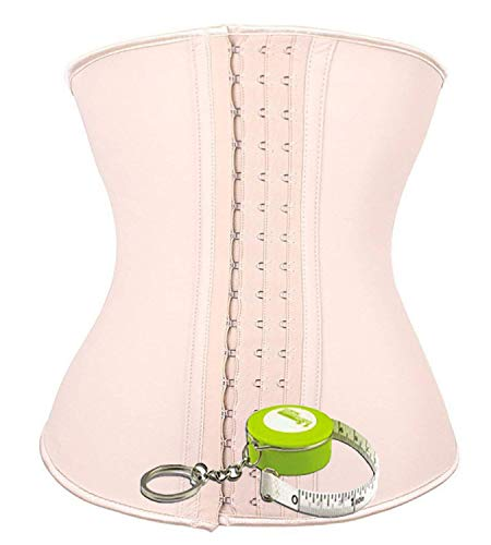 42fa9118a2 ANGOOL Women s Latex Waist Trainer Training Corset Gift Retractable Tape  Measure