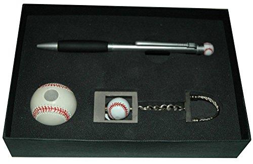 In Style Trading Metall Baseball Kugelschreiber und Ständer Key Tag Set
