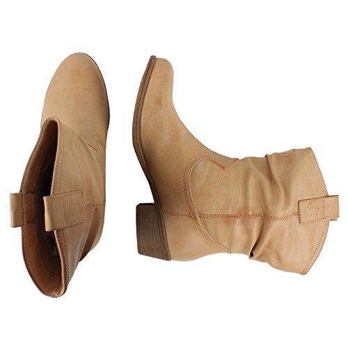 Japado , Bottes et bottines cowboy femme Marron - Sable