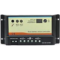 Regulador solar 20A DUO para 2 baterías independientes 12V/24V