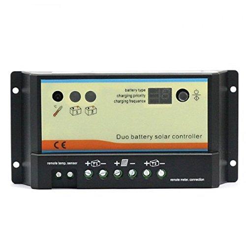 20A 12V/24V DUO solar Laderegler für 2 unabhängige Batterien