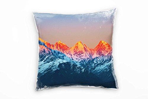 Paul Sinus Art Landschaften, Felsen, Berge, Sonnenlicht Deko Kissen 40x40cm für Couch Sofa Lounge...