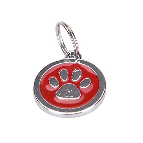 JJCDKL Mode Schlüsselanhänger Ausweis für HaustiereKatzenpfote Hundeknochen-Art-Haustiernamen-Hundehalsketten-Umbau Lustige Haustiere
