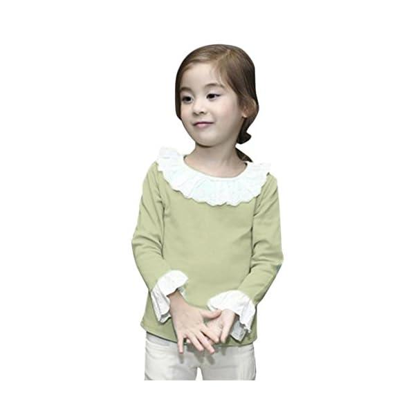 Amlaiworld Bebé Niñas Moda Casual Volantes Camisetas Tapas Blusa Ropa 1