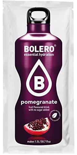 Bolero Drink - Granatapfel mit Stevia (12er Pack) - Wasser-pulver Aromatisiertes