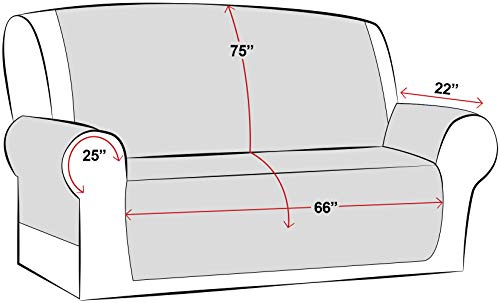 Utopia Bedding Copridivano Reversibile - Resistente allo Sporco - Protezione per mobili per Animali Domestici e Bambini [Adatto a divani in Pelle - No](3 posti, Marrone/Beige)