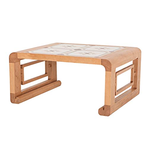 Tables De Lit Tatami Basse Basse Balcon Baie Vitrée Lit D'étude Maison Simple À Thé en Bois Massif Carrée D'ordinateur