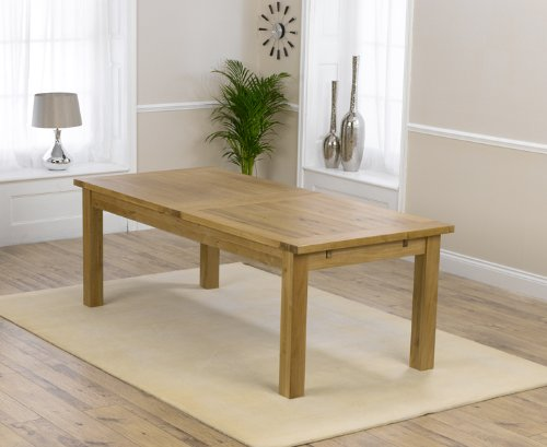 Corona Oak Dining Furniture Extra Large Extending Dining