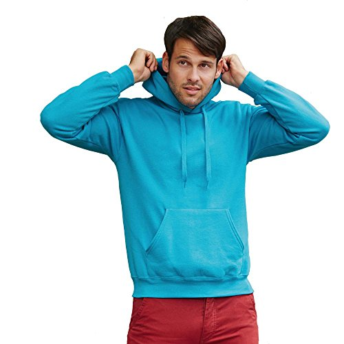 Fruit of the Loom - Kapuzen-Sweatshirt 'Hooded Sweat' M,Azure Blue - 2