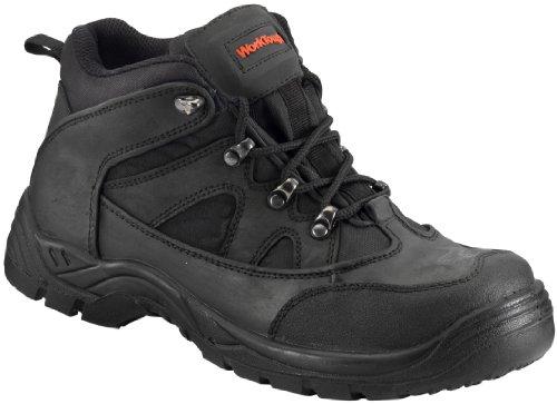 WorkTough 73SM06 Größe 6 Mid Hiker Boot-cut Sicherheit Schwarz Mid Cut Hiker Boot
