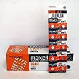 MAXELL 10PIECES Lr41 Ag3 Lr736 392 392a 192 Sr41 BUTTON COIN CELL BATTERY