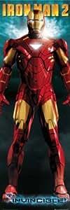 Armure d'Iron Man Comics Superhero Movie Poster géant pour porte 21 x 69 cm