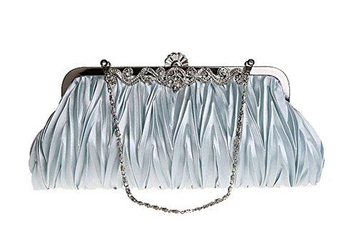 Bündige Abendtasche Handbag Festkleid Zubehöre Braut Ketten Glänztes Paket (Silber)