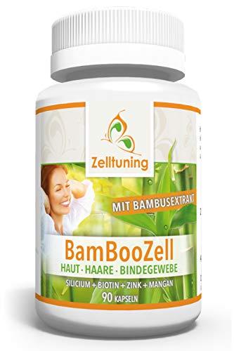Zelltuning BAMBOOZELL, Organisches Silicium/Silizium aus Bambus Extrakt mit Biotin, Zink, Mangan....