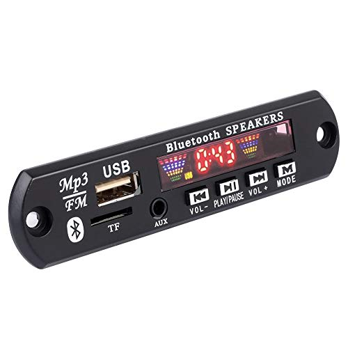 Cewaal Bluetooth 5.0 MP3 Decoder Board-Modul 12V Autoradio Freisprechen Unterstützt USB/SD/AUX/FM-Radio APE FLAC TFM01BT + U-DX Decoder-modul